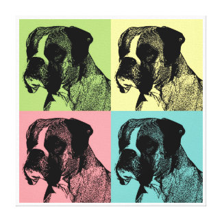 Boxer Dog Pop Art Style Gallery Wrapped Canvas