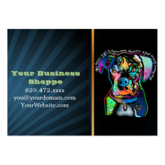 Boxer Dog Pop Art Style for Dog Lovers Pack Of Chubby Business Cards
