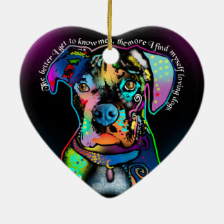 Boxer Dog Pop Art Style for Dog Lovers Christmas Ornament