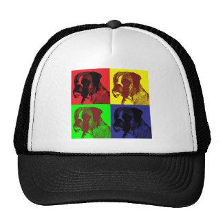 Boxer Dog Pop Art Style Mesh Hats