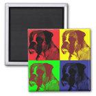 Boxer Dog Pop Art Style Magnet