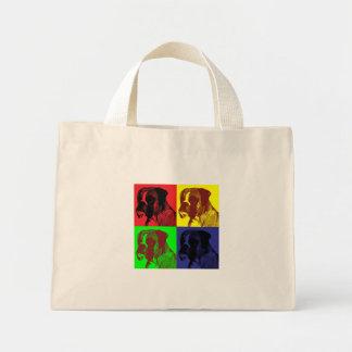 Boxer Dog Pop Art Style Mini Tote Bag