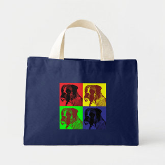 Boxer Dog Pop Art Style Mini Tote Bag