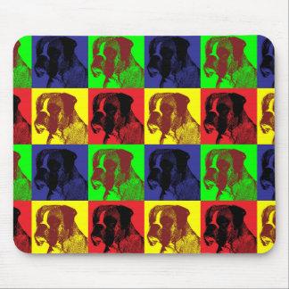 Boxer Dog Pop Art Style Mouse Mat