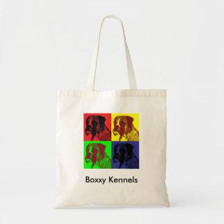 Boxer Dog Pop Art Style Tote Bag