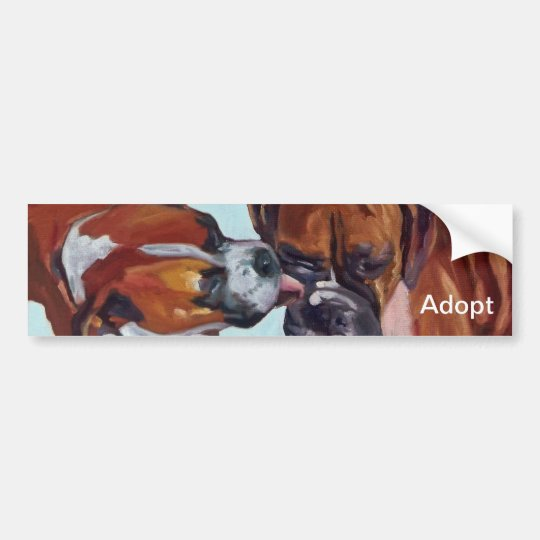 Boxer Dog Portrait Bumper Sticker