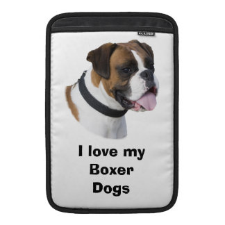 Boxer dog portrait photo MacBook sleeve