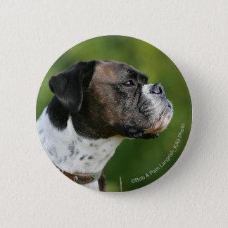 Boxer Dog Profile 6 Cm Round Badge