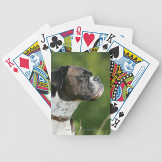 Boxer Dog Profile Bicycle Playing Cards