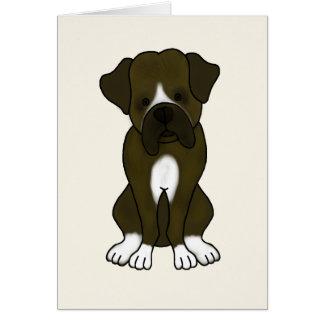 Boxer Dog Puppy Card