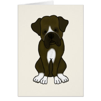 Boxer Dog Puppy Greeting Card