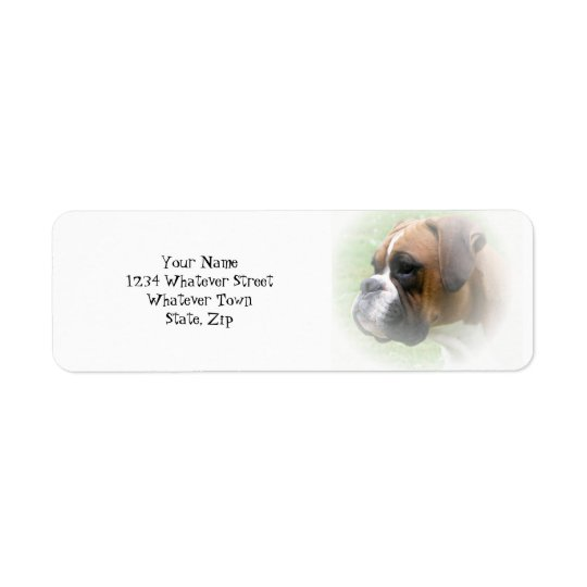 Boxer Dog Return Address Label