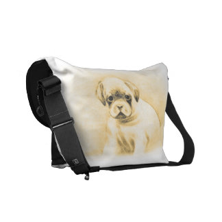Boxer dog Rickshaw Zero Messenger Bag