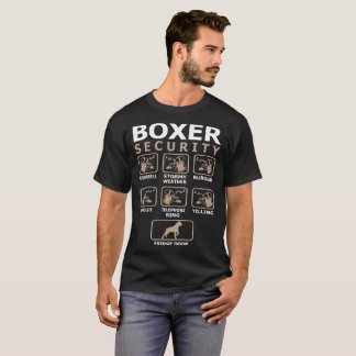 Boxer Dog Security Pets Love Funny Tshirt