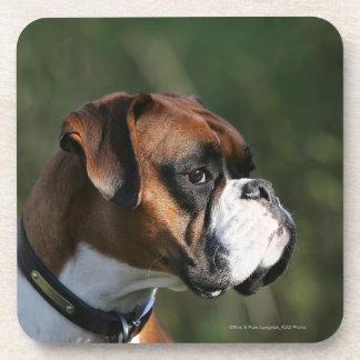 Boxer Dog Side Profile Beverage Coaster
