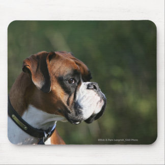 Boxer Dog Side Profile Mouse Mat