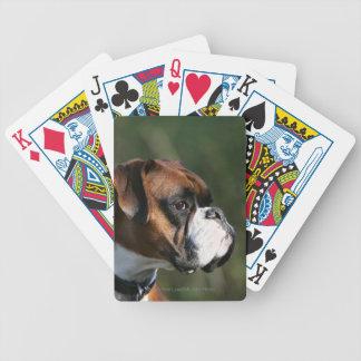Boxer Dog Side Profile Poker Deck