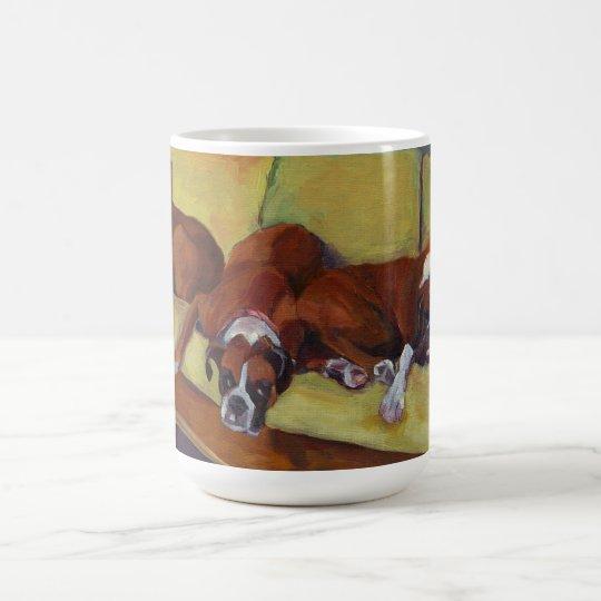 Boxer Dog Siesta Custom Mug