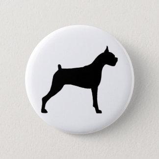 Boxer Dog Silhouette 6 Cm Round Badge