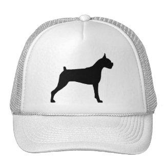 Boxer Dog Silhouette Mesh Hat