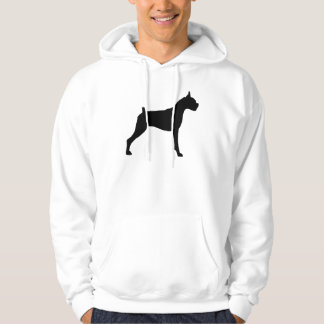 Boxer Dog Silhouette Hoodie