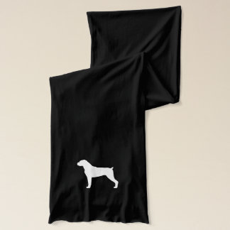 Boxer Dog Silhouette Scarf