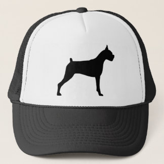 Boxer Dog Silhouette Trucker Hat