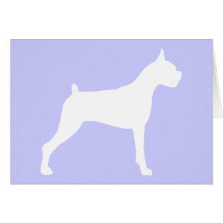 Boxer Dog Silhouette white Greeting Card