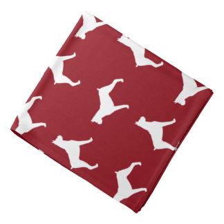 Boxer Dog Silhouettes Pattern Bandana