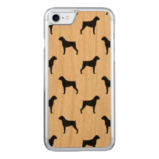 Boxer Dog Silhouettes Pattern Carved iPhone 7 Case