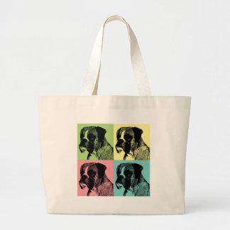 Boxer Dog Stamper Pop Art Bag