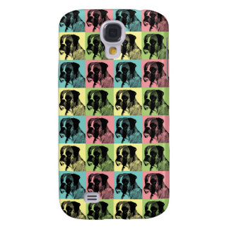 Boxer Dog Stamper Pop Art Galaxy S4 Case