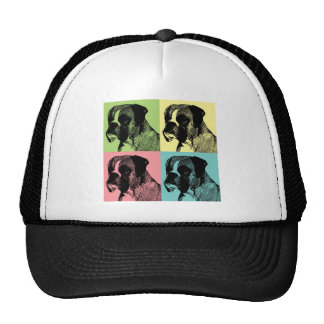 Boxer Dog Stamper Pop Art Hats