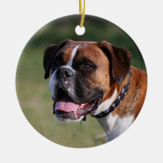 Boxer Dog Standing Christmas Ornament