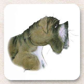 boxer dog, tony fernandes drink coaster