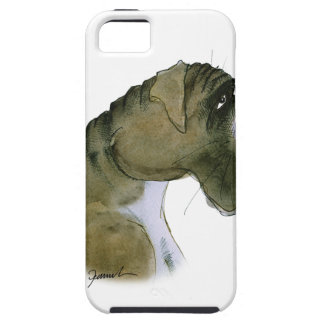 boxer dog, tony fernandes iPhone 5 cover