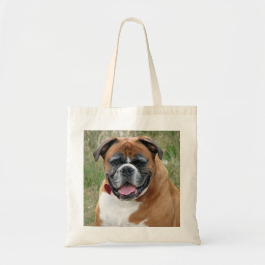 Boxer dog tote bag, gift idea