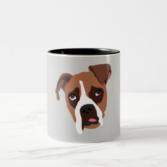 Boxer Dog Two-Tone Mug