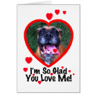 Boxer Dog Valentine Greeting Card
