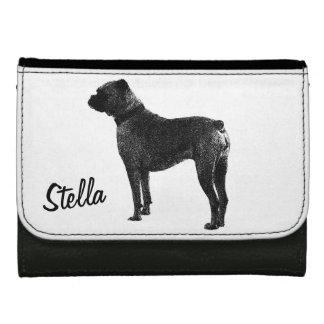 Boxer dog wallet design   Personalizable pet name.
