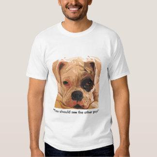 Boxer Dog with Black Eye Painting tshirt
