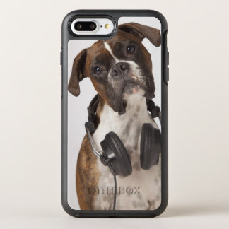 Boxer Dog with Headphones OtterBox Symmetry iPhone 7 Plus Case