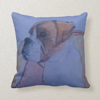 Boxer Dog With The Best Seat In The House Throw Pillow