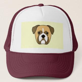 Boxer Dogs Face. Trucker Hat