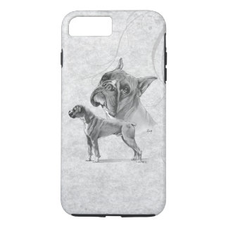 Boxer Dogs Pencil Drawing iPhone 7 Plus Case