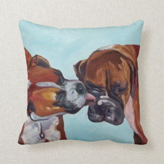 Boxer Dogs Pet Portrait Pillow