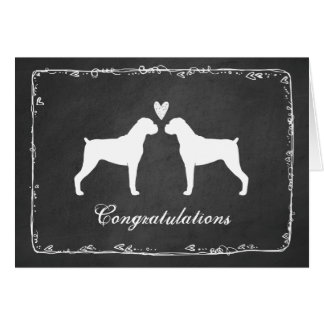 Boxer Dogs Wedding Congratulations Greeting Card