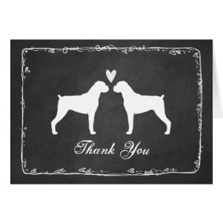 Boxer Dogs Wedding Thank You Note Card