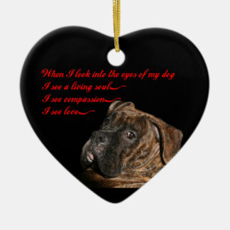 Boxer: Eyes of my dog Christmas Ornament
