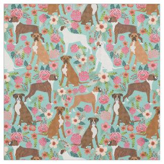 Boxer florals fabric print